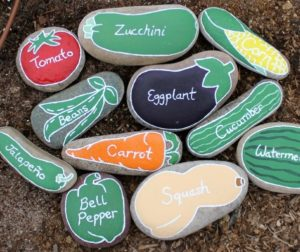 Painted Rock Plant Markers