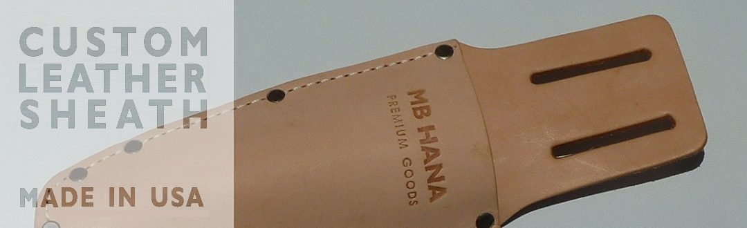 MB HANA Leather Hori Hori Sheath